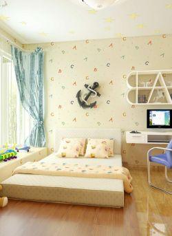 男兒童房墻面壁紙裝修效果圖片