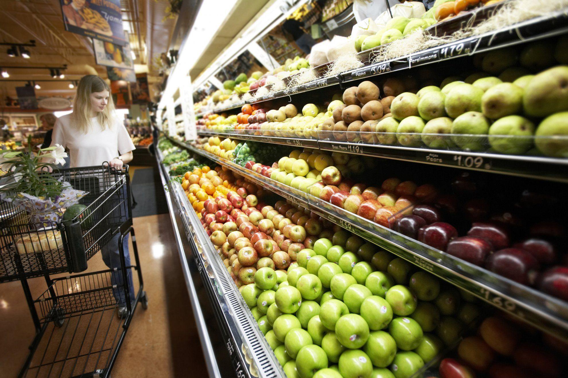 外国水果店超市装修图片效果大全