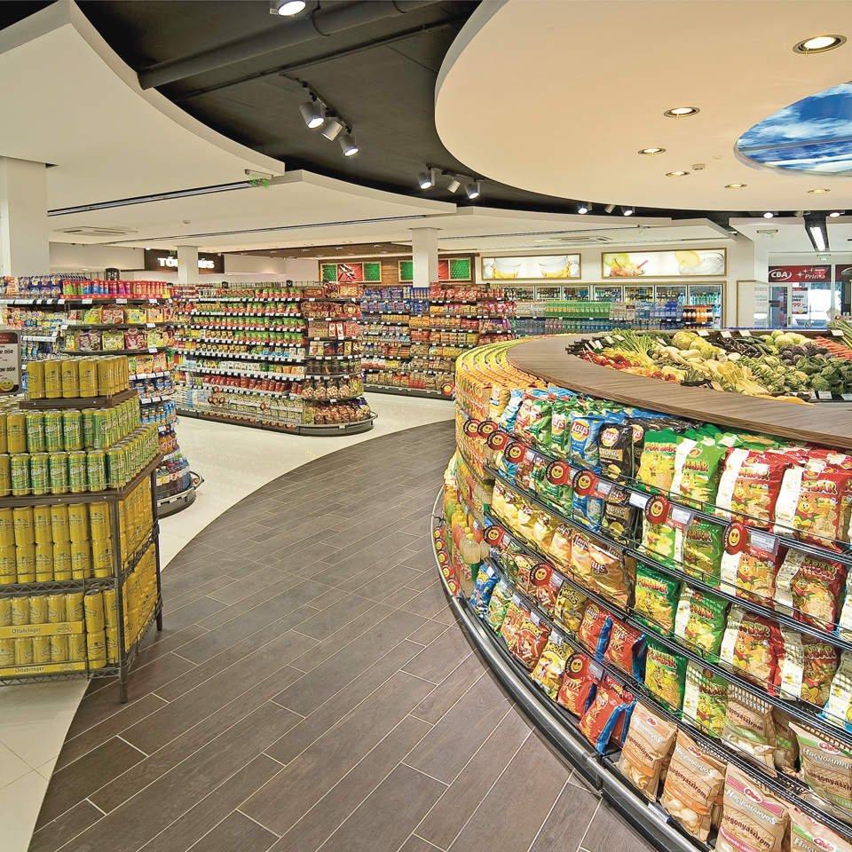 大型超市吊顶装修效果图大全
