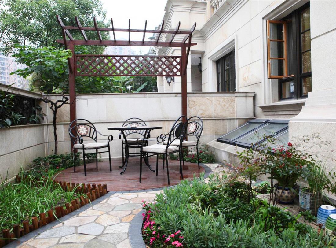 露天阳台花坛设计装修效果图