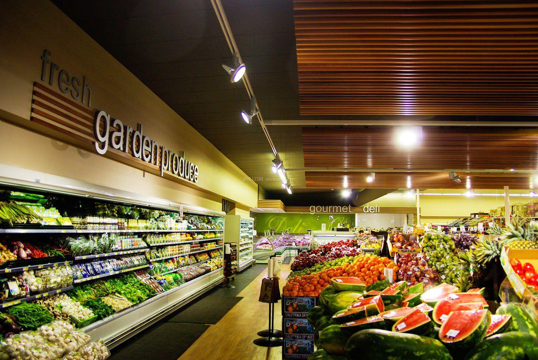 大型果蔬超市装修效果图图片_装修123效果图