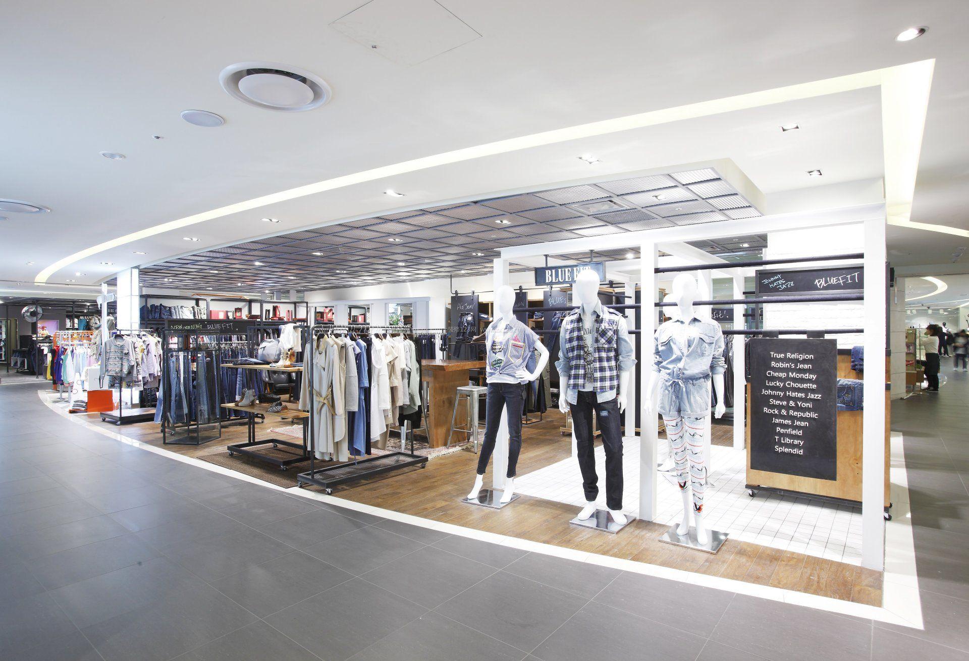 百货商场服装店设计效果图欣赏图片
