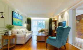 小戶型客廳實景 美式小戶型裝修效果圖片