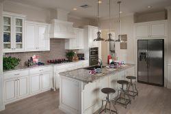 現代歐式風格廚房整體櫥柜裝修效果圖片