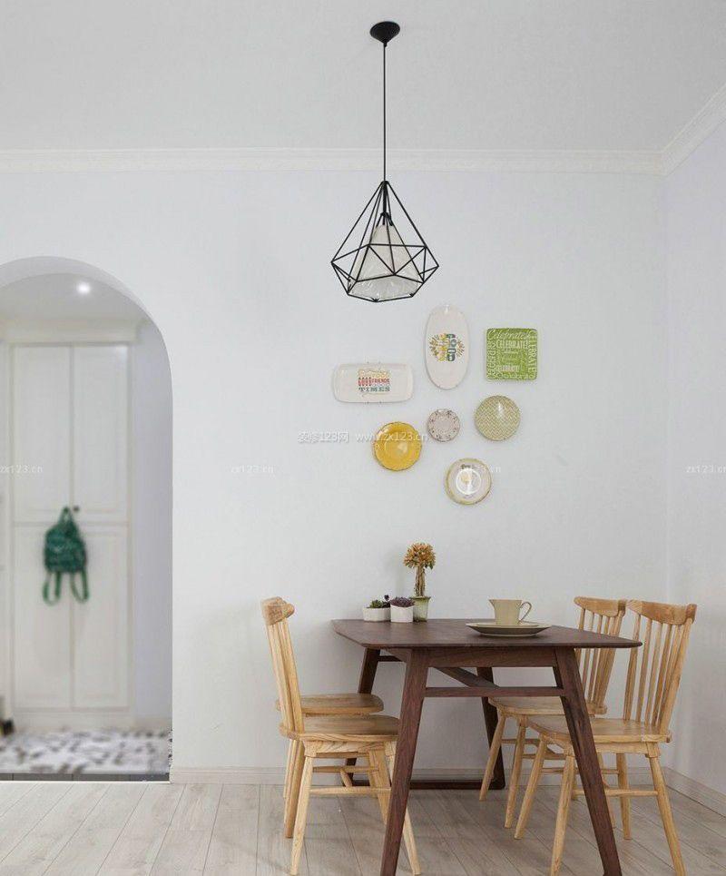 北欧风格家装餐厅墙面装饰装修效果图片大全图片