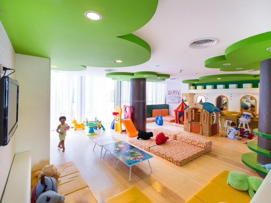 美式幼儿园天花吊顶装修设计效果图