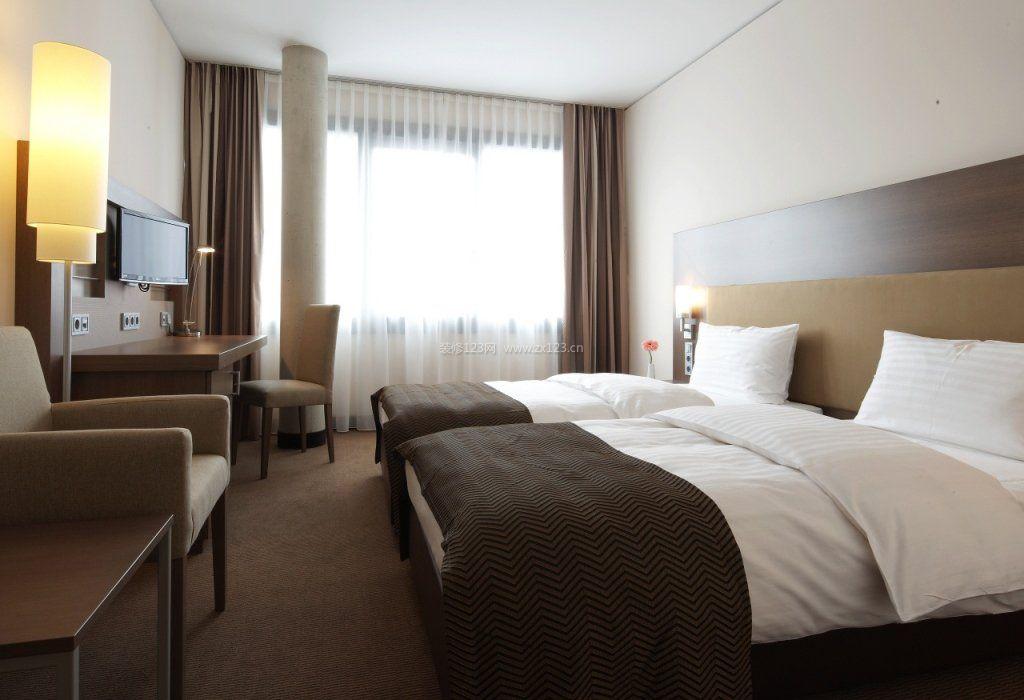 大型商务酒店房间装修设计效果图片