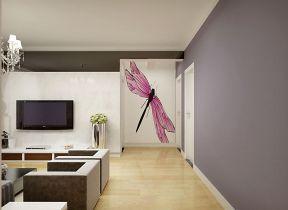 現代簡約客廳風格 白色踢腳線效果圖