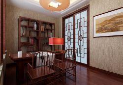 中式風格家居書房博古架設計效果圖