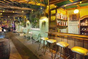 装修效果室内吧凳复古图片酒吧90平米复古装修效果图图片