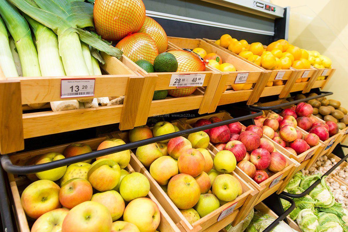小型超市水果店面装修效果图图片