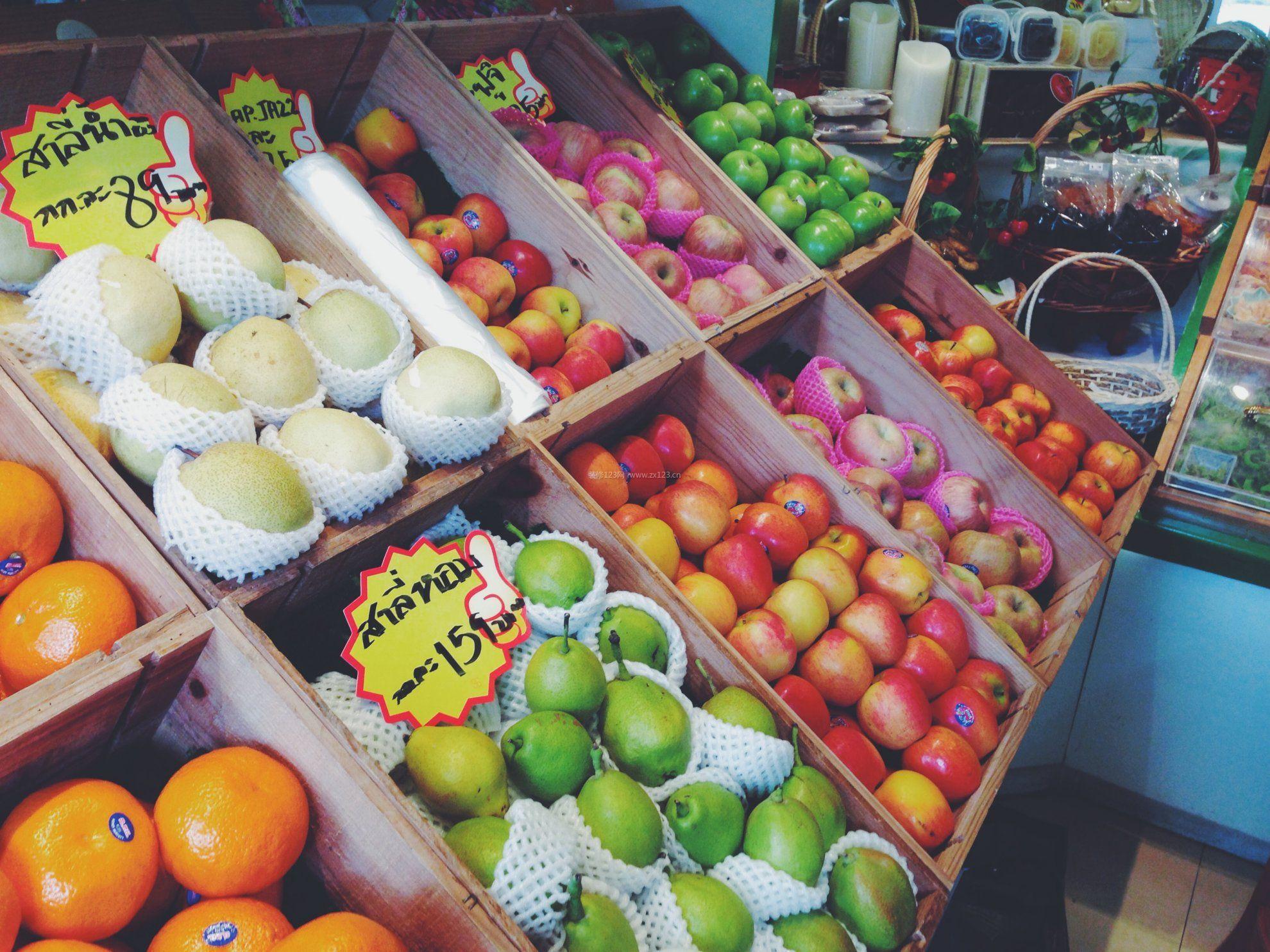 小型水果店面超市装修效果图图片
