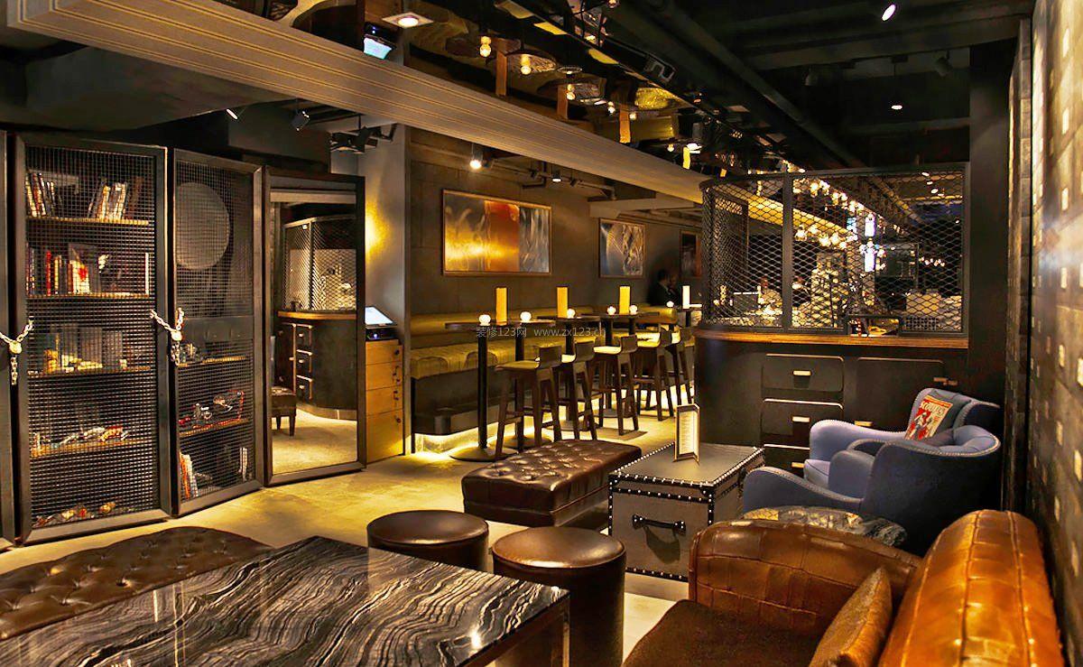 创意酒吧室内设计效果图2016图片