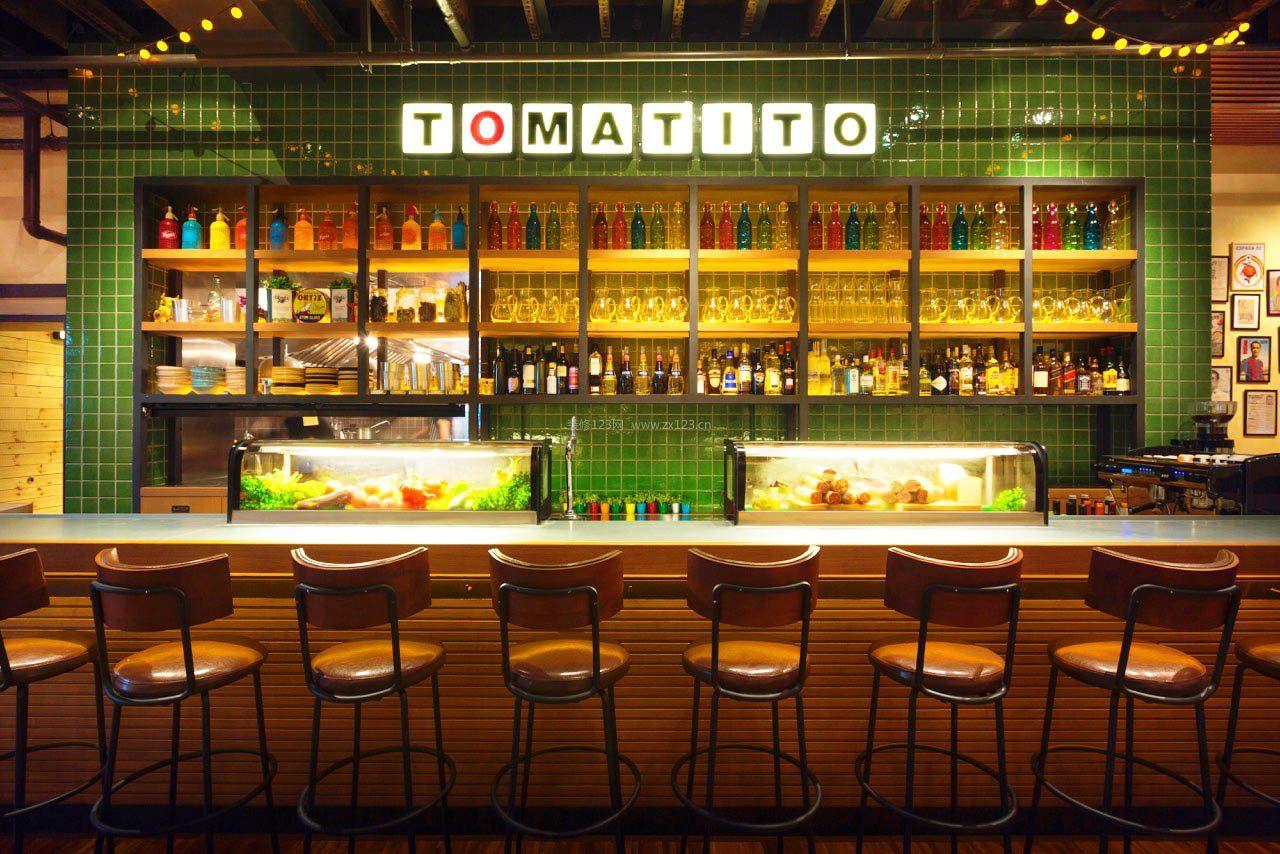 创意酒吧吧台酒架设计图片图片
