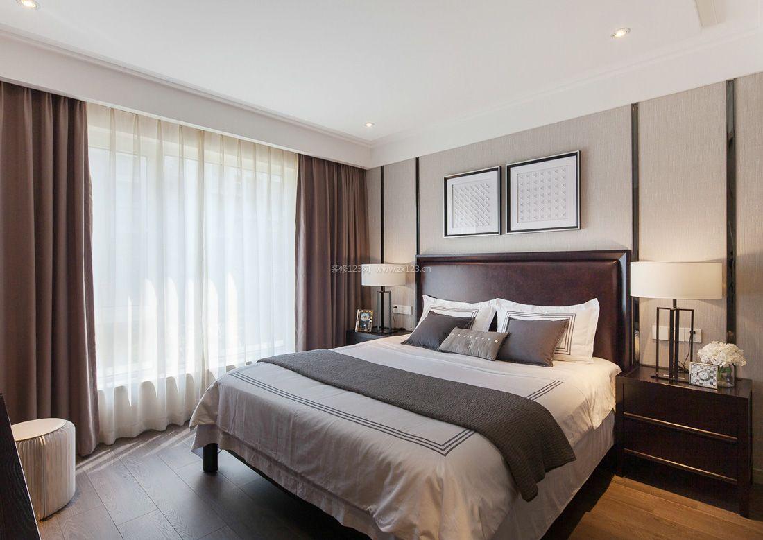简约中式15平方米卧室装修效果图