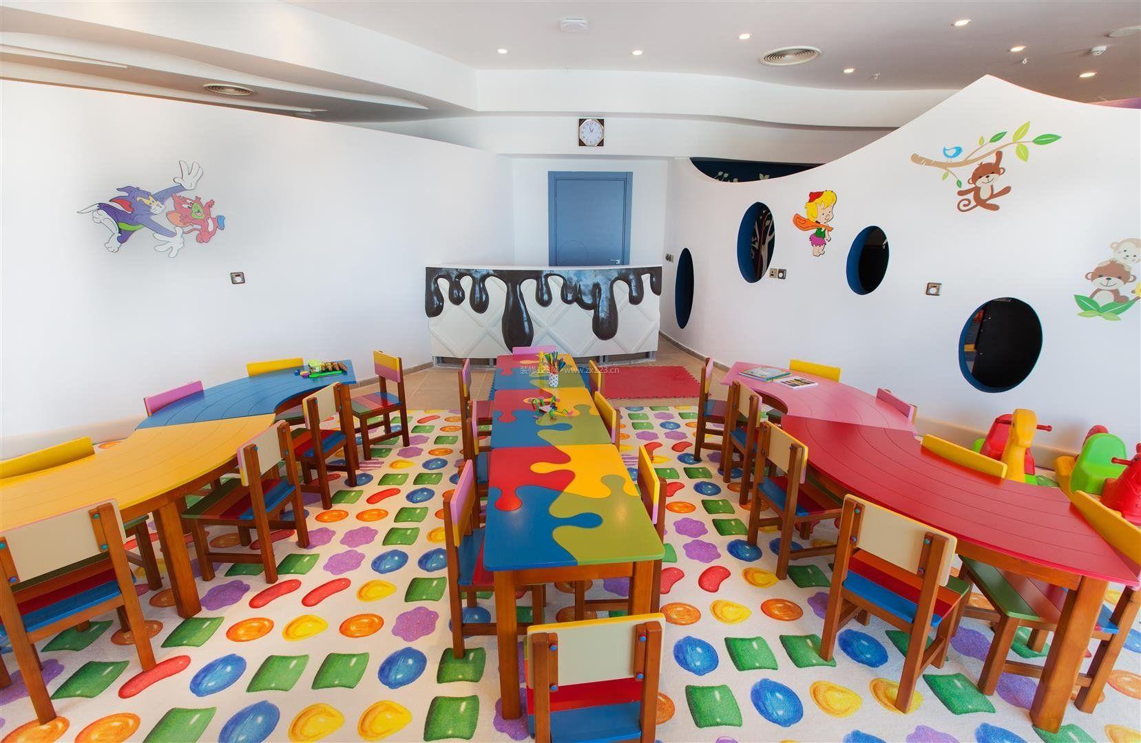 幼儿园教室墙面布置设计图片
