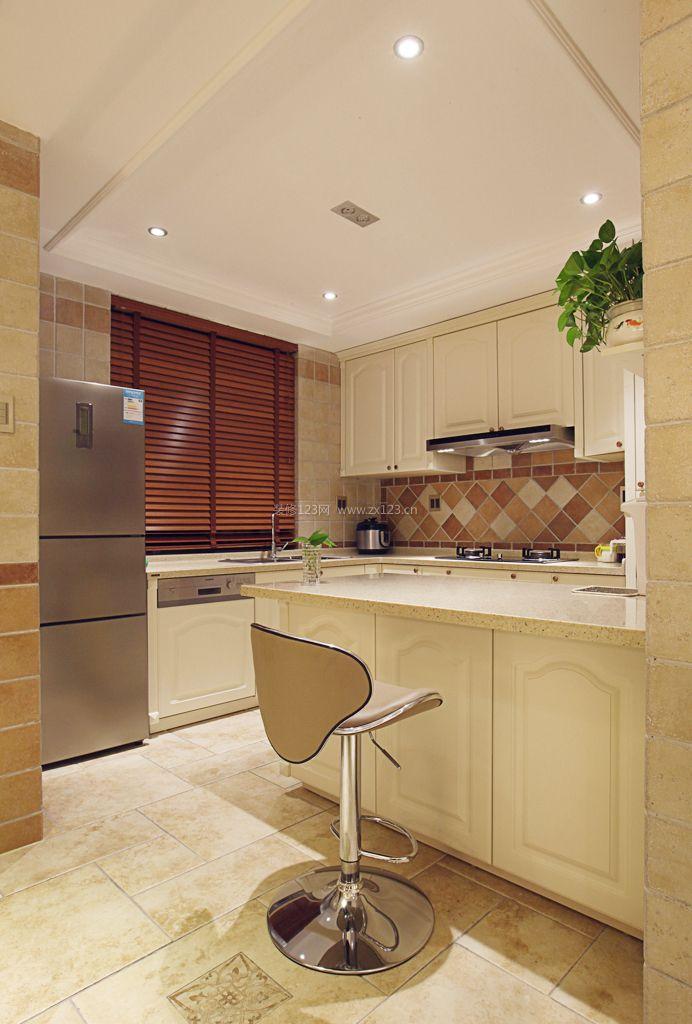 120平米开放式厨房石膏板吊顶效果图图片