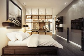 30平米一居室簡約 白色踢腳線效果圖