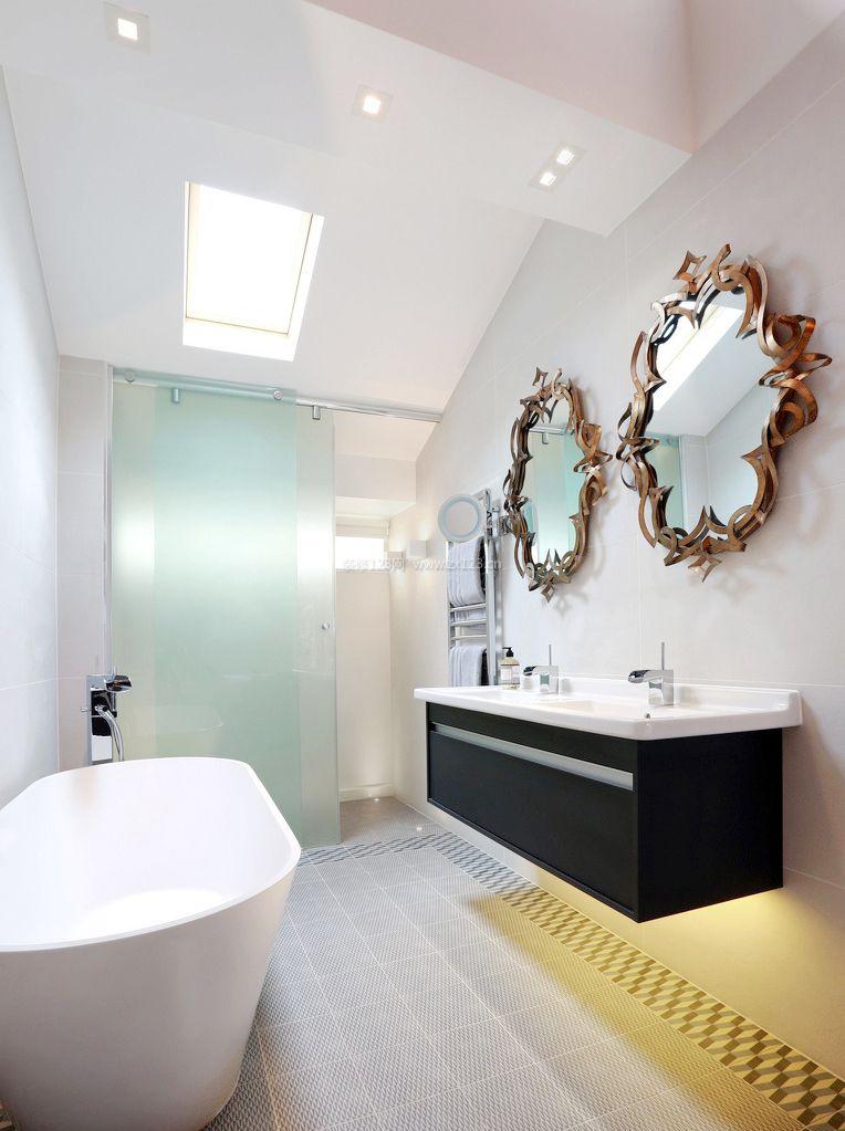 超现代家装浴室镜子装修效果图片