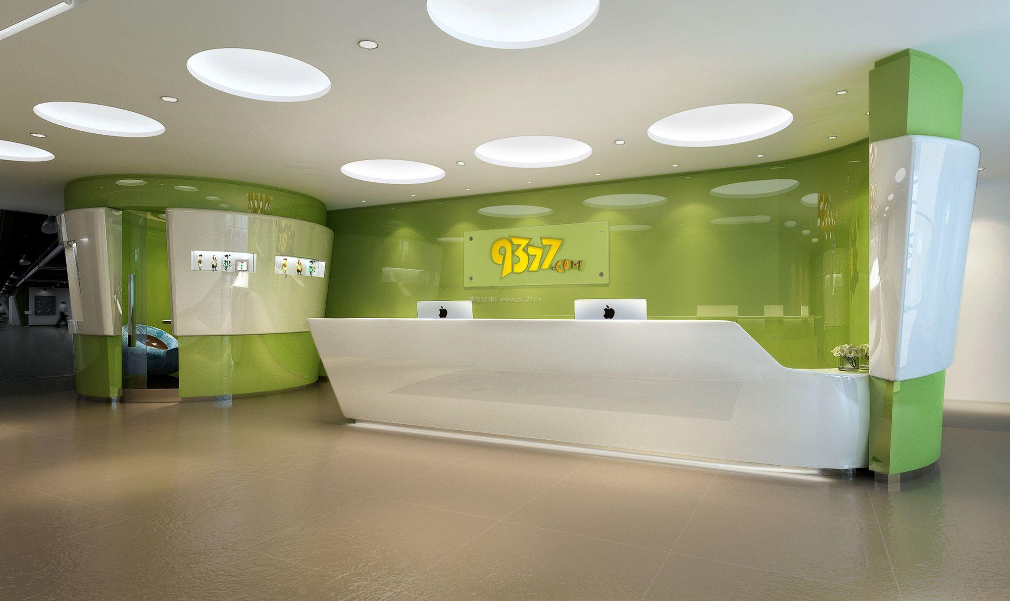 公司前台形象背景墙设计案例