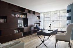 家庭書房整體書柜設計裝修