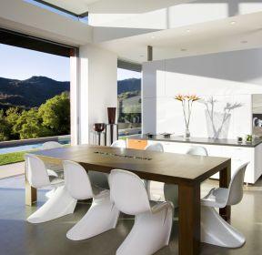 室内设计现代简约风格餐桌椅子装修效果图片-每日推荐