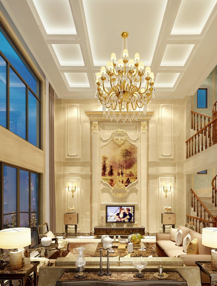 欧式家装别墅客厅吊顶效果图大全