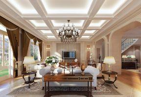 別墅客廳吊頂大全 豪華別墅裝修圖片