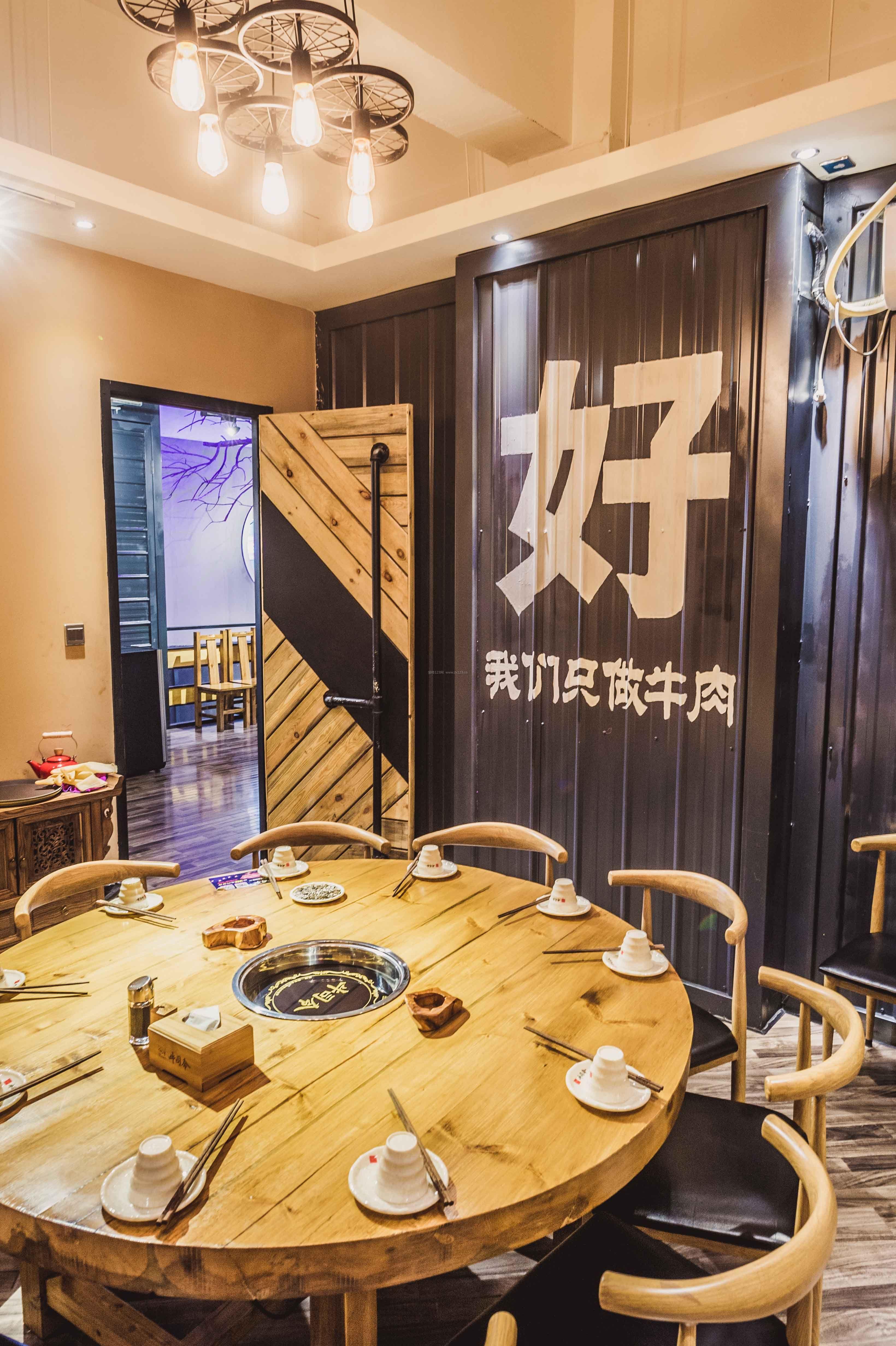 火锅店室内吊顶装修设计效果图片图片
