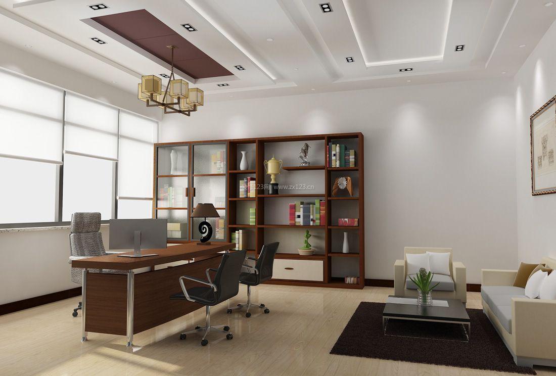 现代办公室风格简约吊灯装修效果图片