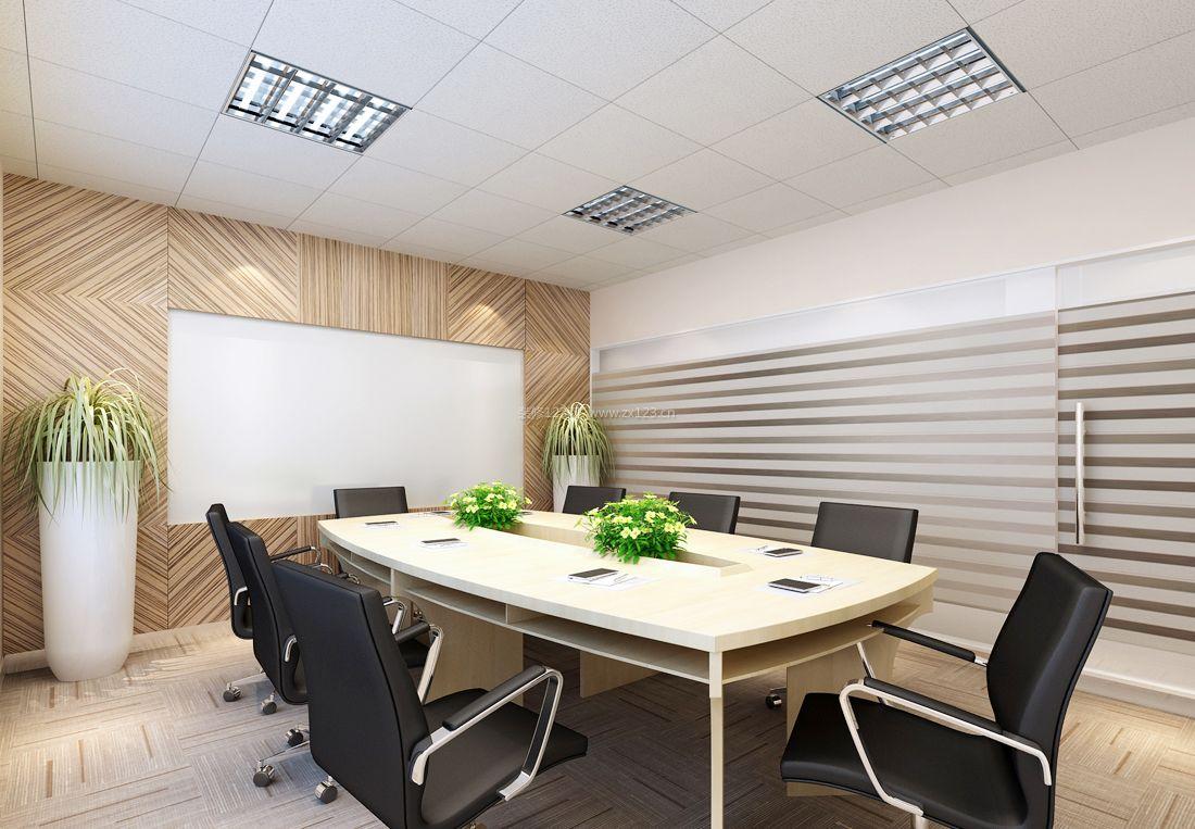 现代办公室风格背景墙设计图片