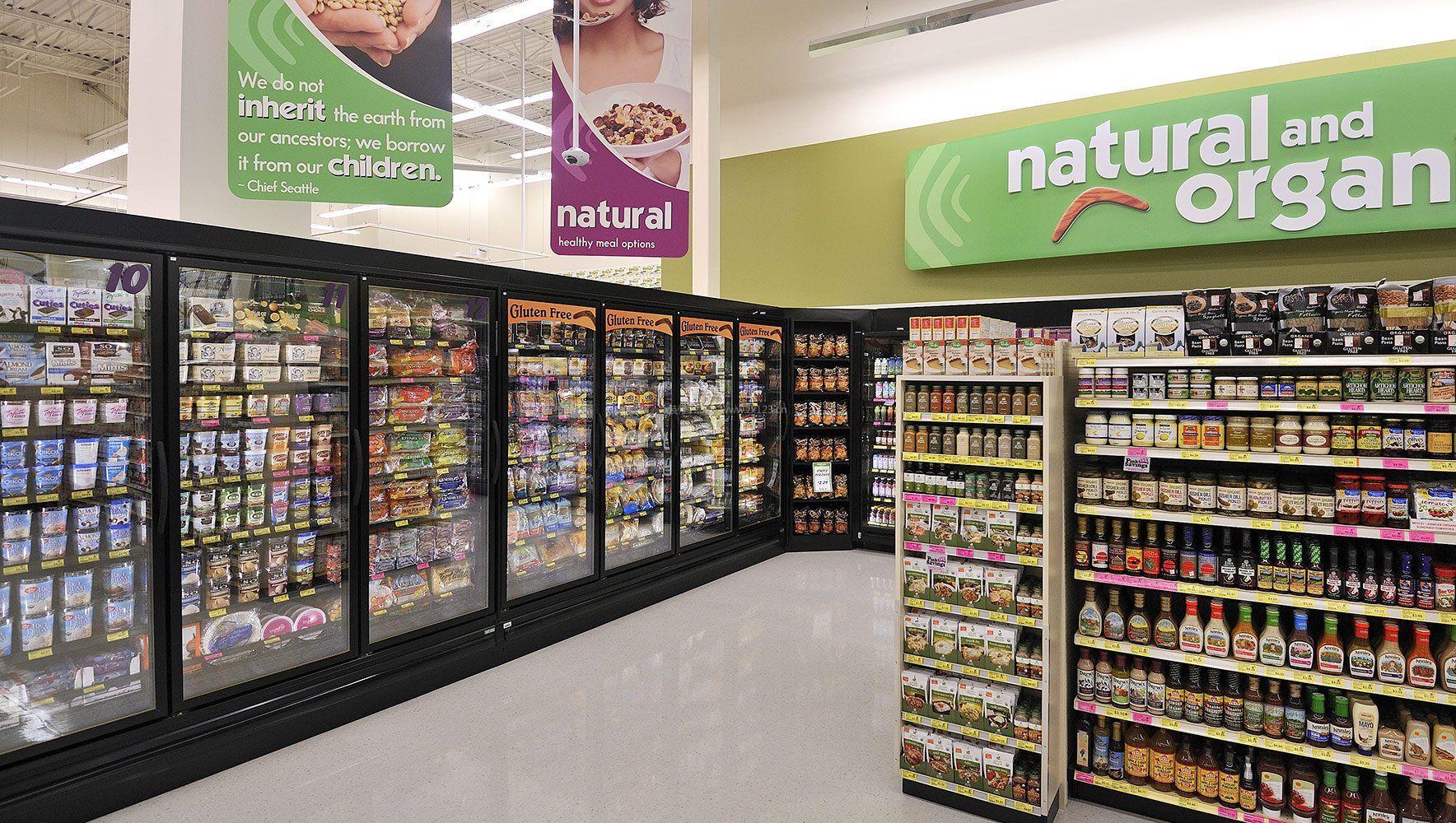超市室内货架陈列设计图