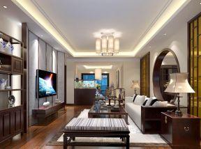 中式装修风格元素 室内客厅设计效果图