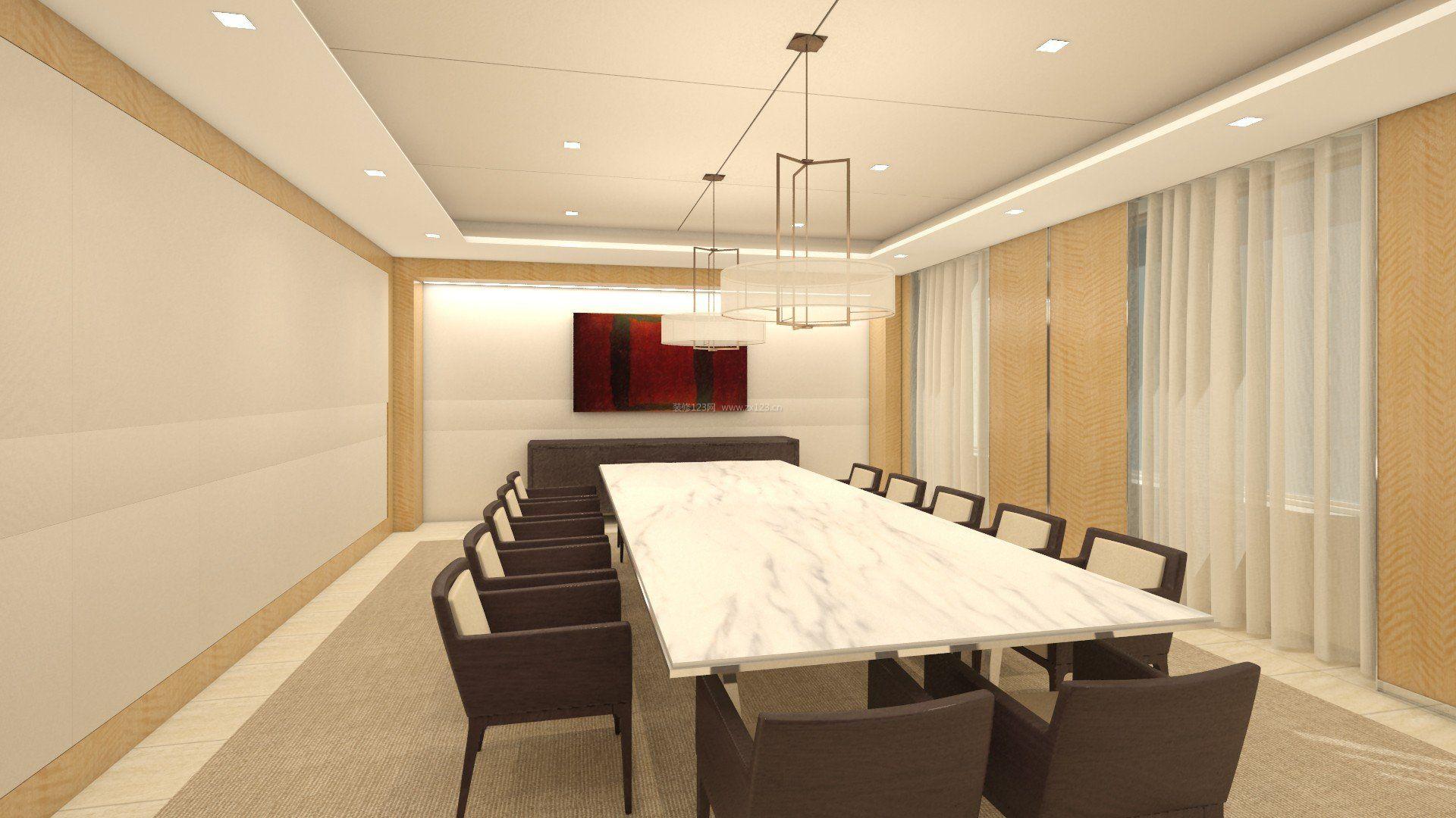 简约时尚新中式风格办公室装修图片