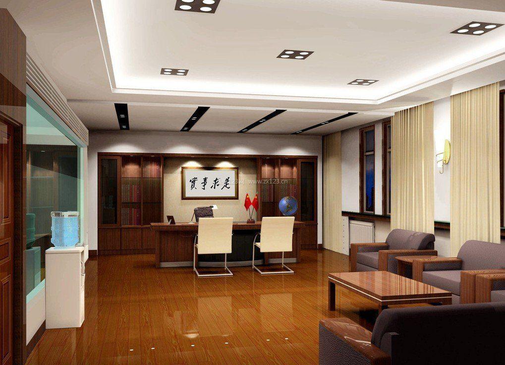办公室新中式风格黄色地砖装修效果图片图片