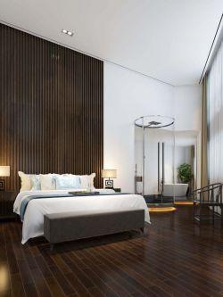 120平米房子现代风格卧室仿木地板瓷砖图片设计