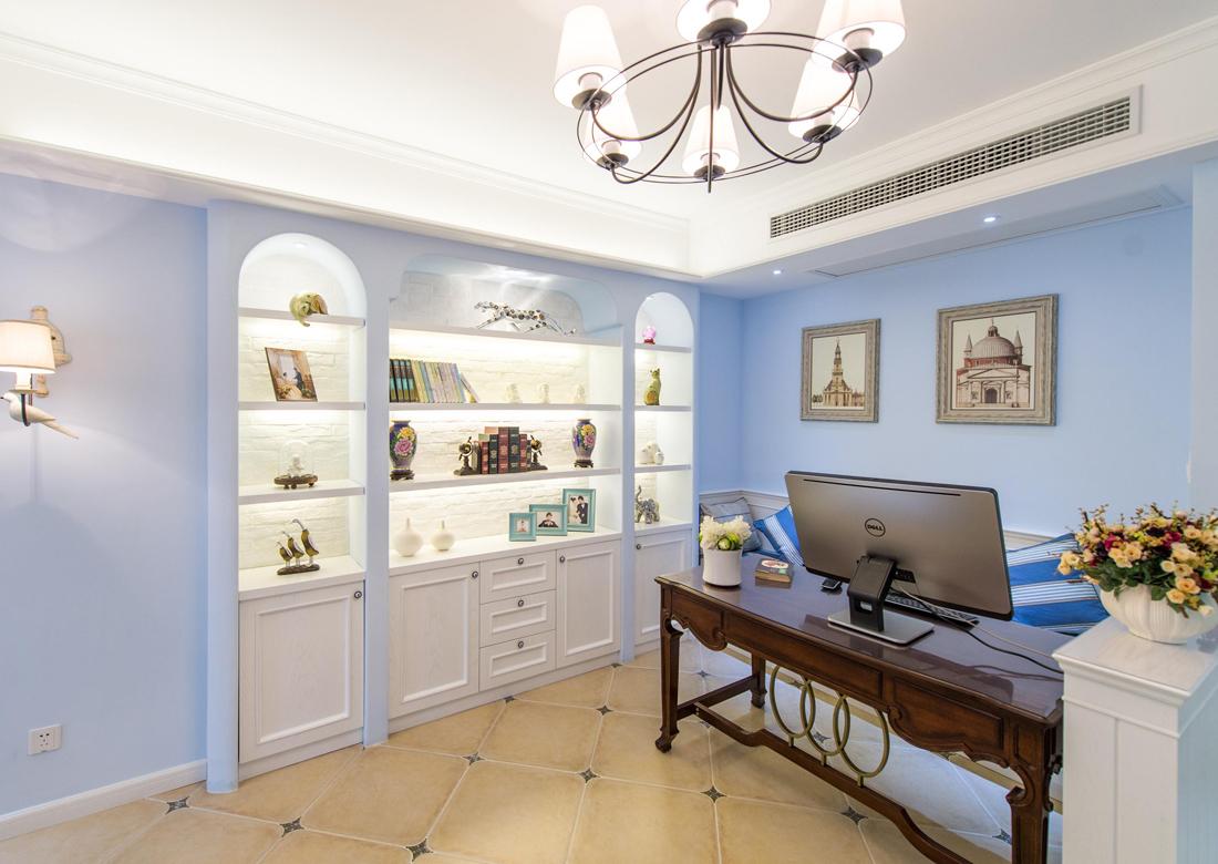 简约美式风格小书房设计装修效果图片