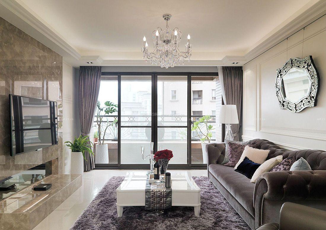 室内客厅到阳台的门装修效果图欣赏