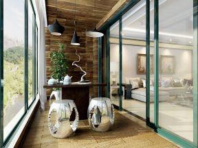 客厅到阳台的门效果图 蓝色门框装修效果图片