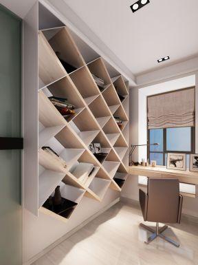 小书房创意书架设计装修效果图片