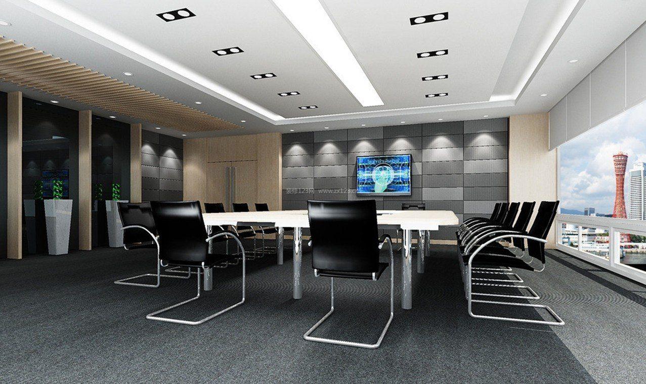 简约办公室吊顶室内装饰装修设计图片_装信通网效果图