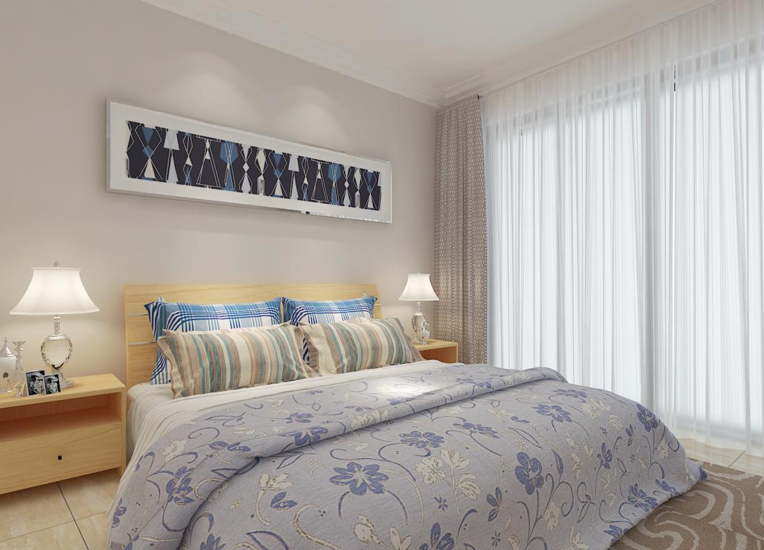 2017欧式田园风格小卧室简单装修效果图片