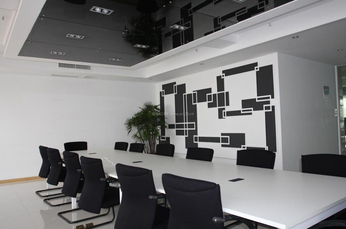 现代简约黑白风格时尚办公室装修图