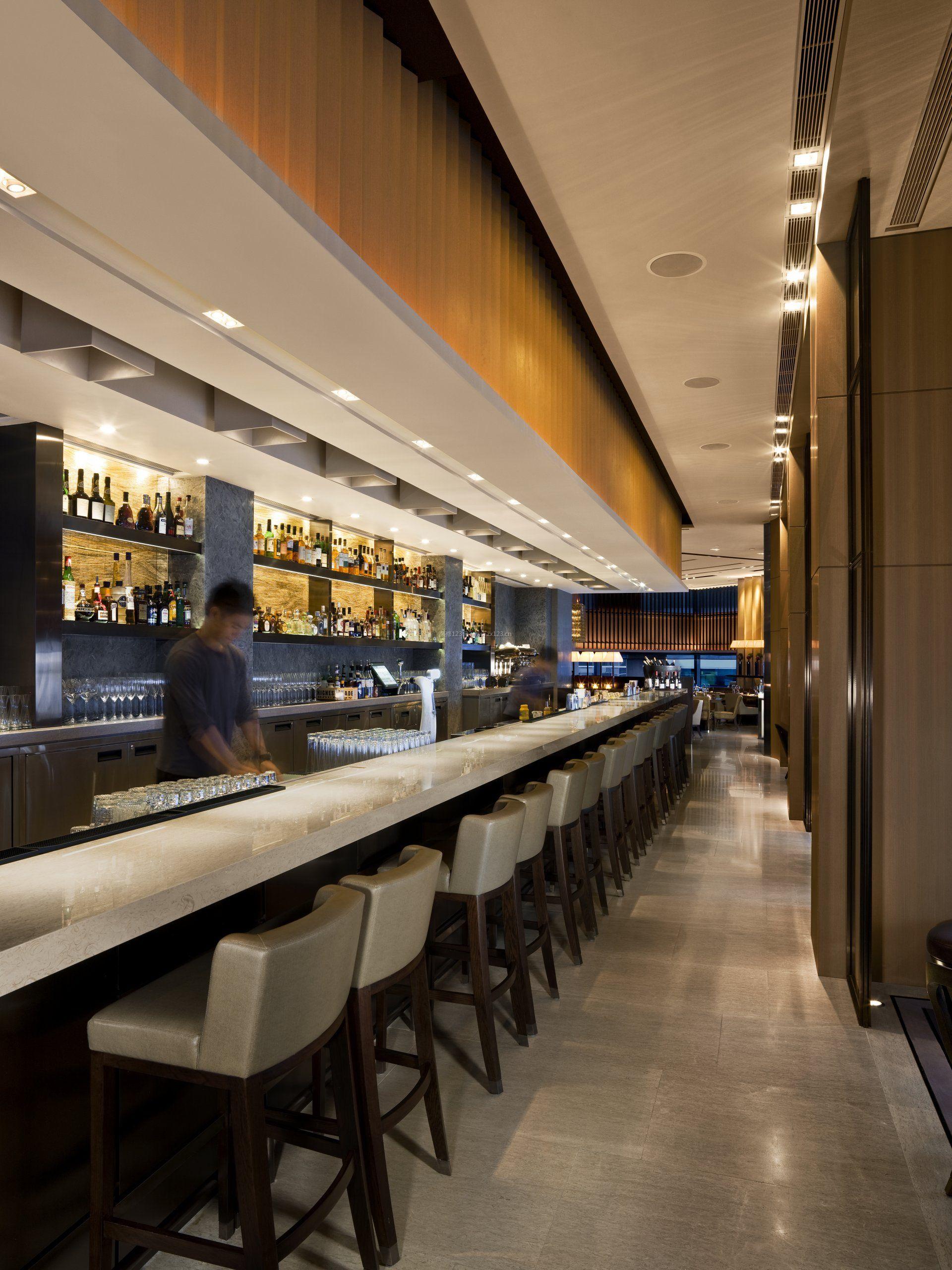 五星级酒店酒吧台装修效果图片