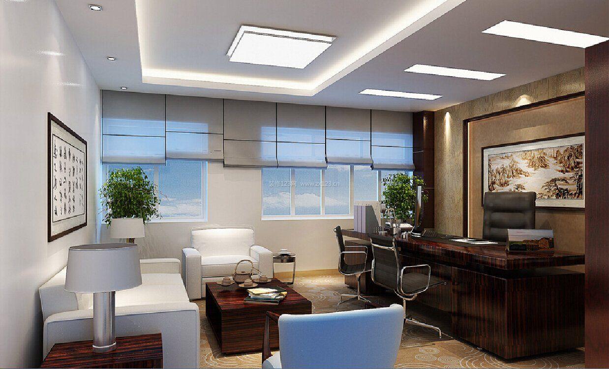 经理办公室中式吊顶装修效果图赏析