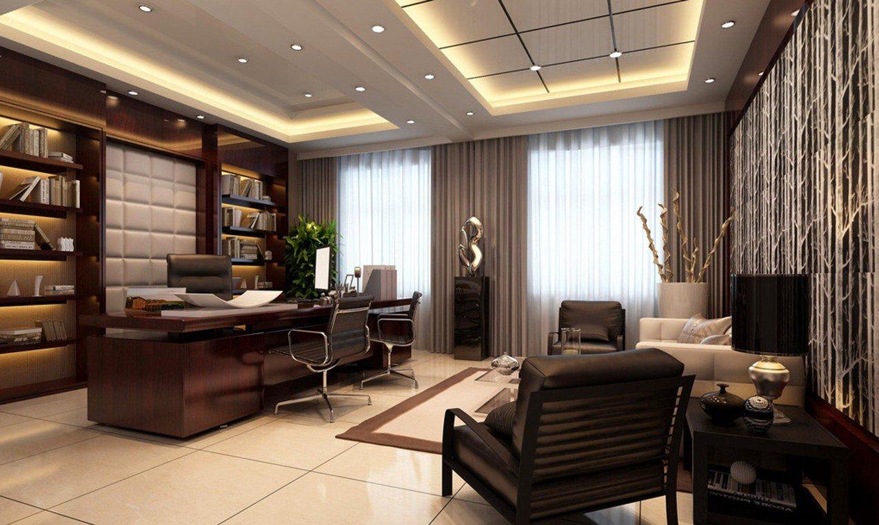 中式古典风格的元素办公室吊顶装修效果图图片