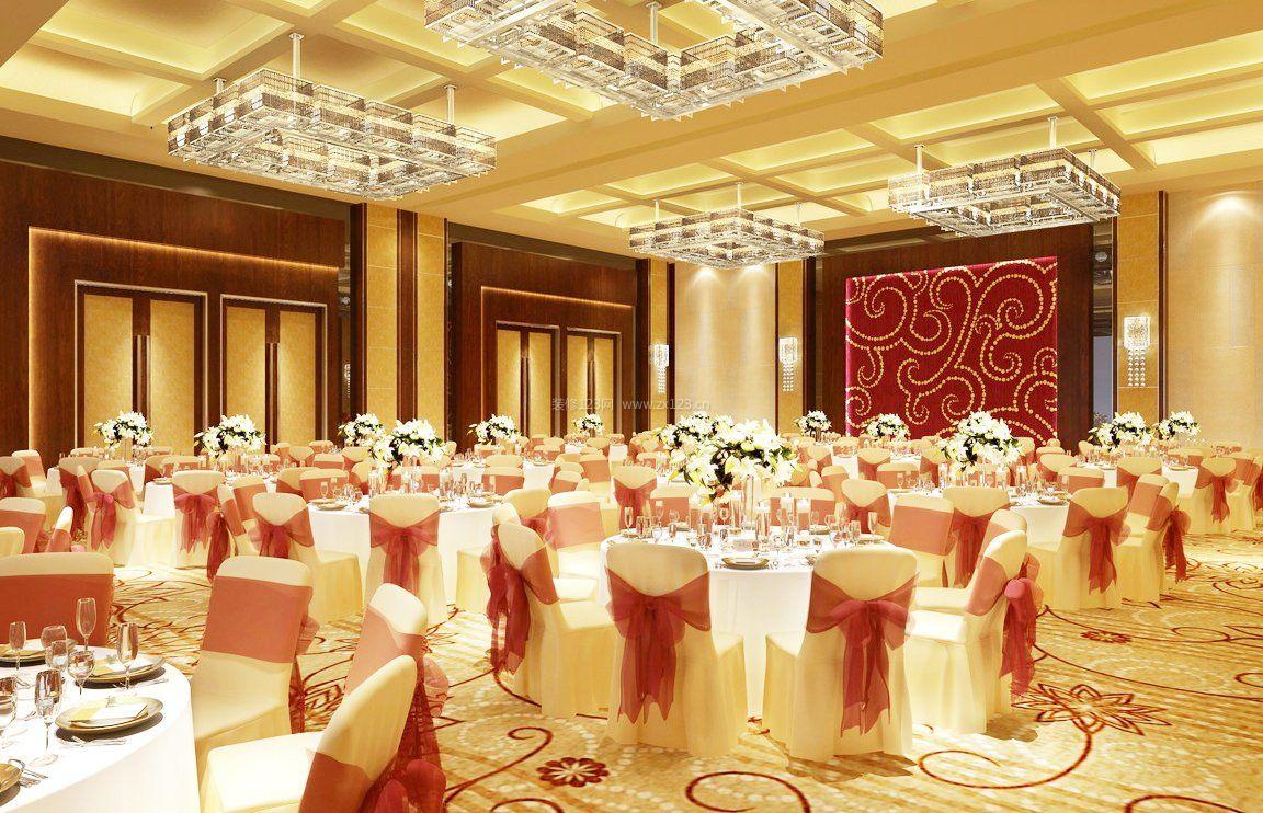 qq餐厅婚礼装饰_大型婚宴酒店餐厅设计装修效果图片