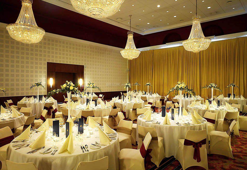 最新婚宴酒店餐厅设计装修效果图图集