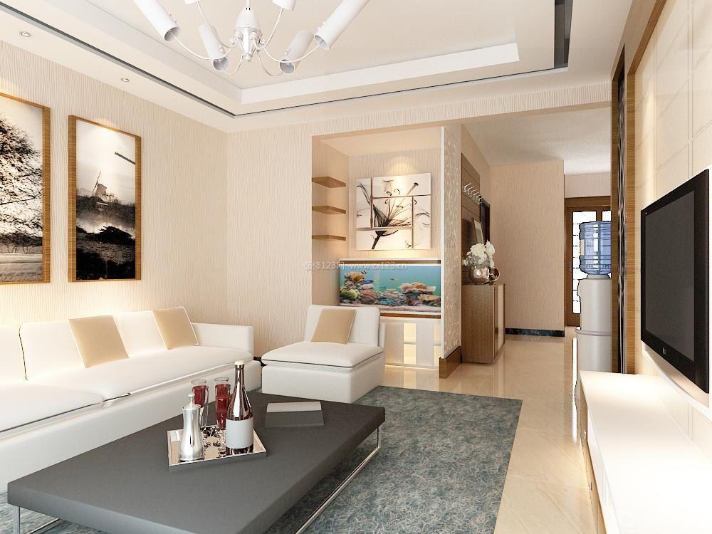 现代中式客厅鱼缸装修效果图片