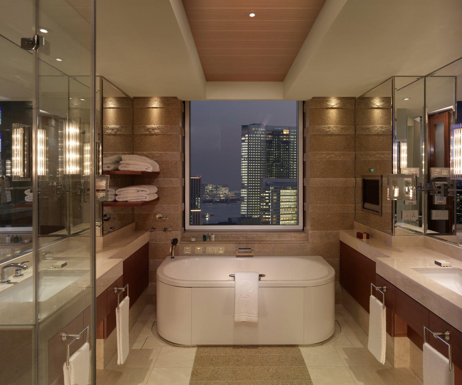 高档酒店室内整体浴室装修效果图片